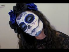 Halloween : Tuto Maquillage Sugar Skull - YouTube