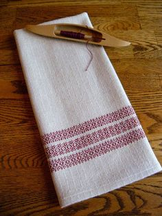 Kitchen Towel Handwoven Towel Hand Woven by ThistleRoseWeaving