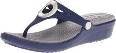 crocs Women's Sanrah Flip Wedge ** See this great image  : Flip flops