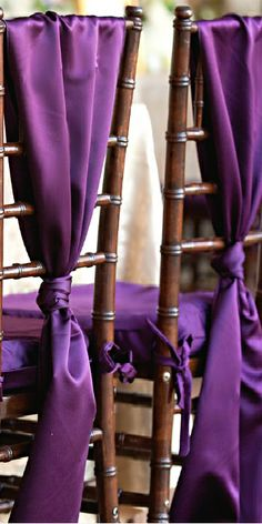 Wedding ● Chair Décor ● Purple