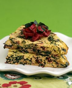 Swiss Chard Frittata. ✔ Tried, tested, yum...