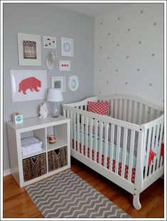 Simple nursery ideas for girls eclectic and dreamy nursery gray nursery nursery kids bedroom baby room Baby Bedroom, Baby Boy Rooms, Baby Boy Nurseries, Nursery Room, Girl Nursery, Girl Room, Kids Bedroom, Nursery Decor, Room Baby