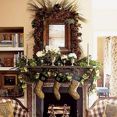 rustic christmas decorating rooms pictures decorate is the mantel i havent yet - Country Christmas Mantel Decorating Ideas