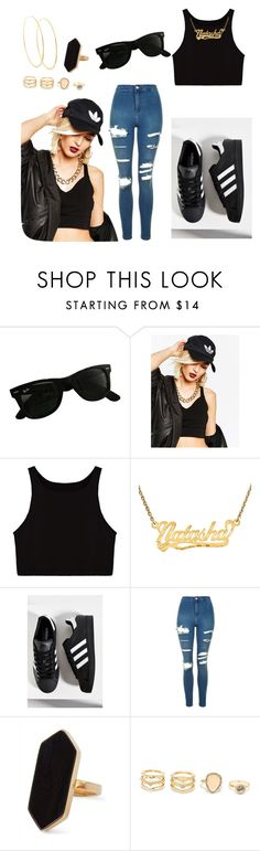 """Untitled #6"" by kiyamisc ❤ liked on Polyvore featuring Ray-Ban, adidas, Topshop, Jaeger, LULUS and Lana"