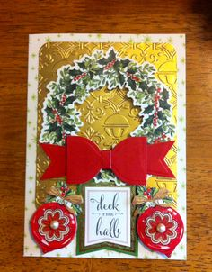 Love Anna's Christmas products every year. I love to mix and match past and present kits like I did here.