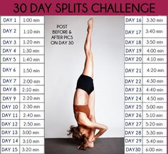 Yoga Poses & Workout : Be challenged by this yoga 30 days split challenge. Yoga Poses & Workout : Be challenged by this yoga 30 days split challenge. Fitness Herausforderungen, Fitness Workouts, At Home Workouts, Health Fitness, Easy Fitness, Dance Fitness, Health Diet, Fitness Goals, 30 Day Splits Challenge
