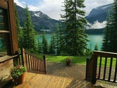 Emerald Lake, Canada Photograph by Michael Melford, National Geographic Emerald Lake can be seen from the entrance of the Emerald Lake Lodge at Yoho National Park in British Columbia, Canada. British Columbia, Yoho National Park, National Parks, Decks, Beautiful World, Beautiful Places, Emerald Lake, Cabins In The Woods, Lake View