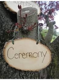 Rustic ceremony sign