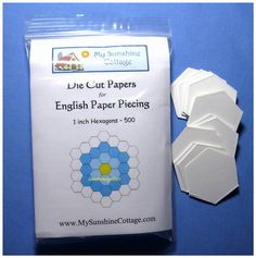 I buy my EPP here:  500 Die Cut Hexagon Paper Pieces 1 inch English Piecing for Quilting EPP | eBay