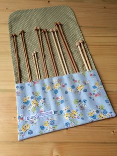 Cath Kidston Woodland Rose Knitting Needle Roll by SimplyWishes