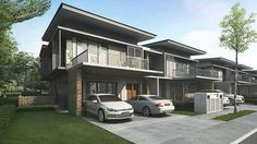 New Terrace/Link House for sale at Parksville Superlink Terrace & Semi D), by Paya Emas Sdn Bhd. View the project information and facilities, points of interest, floor plan & Modern Townhouse, Townhouse Designs, Modern Bungalow, Relaxing Photos, Cluster House, Double Storey House, Tropical Architecture, Modern Tropical, New Property