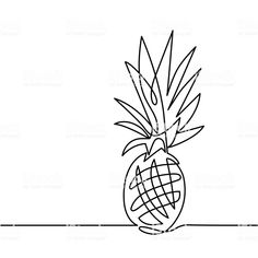 continuous line drawing of pineapple concept of fruit vector. continuous line drawing of pineapple concept of fruit vector illustration. Pineapple Drawing, Pineapple Art, Pineapple Design, Pineapple Tattoo Meaning, Pinapple Tattoos, Drawing Simple, Continuous Line Tattoo, Fruit Tattoo, Tatoo