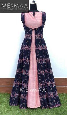 Sleeves Designs For Dresses, Dress Neck Designs, Stylish Dress Designs, Indian Gowns Dresses, Indian Fashion Dresses, Indian Designer Outfits, Long Gown Design, Dress Design Patterns, Simple Kurti Designs