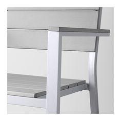 FALSTER Armleunstoel, buiten - -, grijs - IKEA