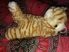 Ginger scruffy kitty cat plush toy from danish TIGER shop