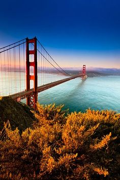 GOLDEN GATE, Ropelato Photography Morning light ignites the Golden Gate Bridge in San Francisco, Ca. Beautiful Places In California, Beautiful Places To Visit, Places To Travel, Places To See, Travel Destinations, Road Trip Usa, Puente Golden Gate, Baie De San Francisco, Travel Around The World