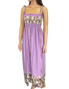 Lavender Mahea Maxi Hawaiian Long Tube Dress #RC-61204R-M