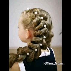 Baby Girl Hairstyles, Easy Hairstyles For Long Hair, Up Hairstyles, Pretty Hairstyles, Braided Hairstyles, Ballet Hairstyles, Girl Hair Dos, Front Hair Styles, Long Hair Video