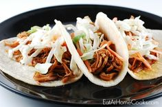 Slow Cooker Korean BBQ Tacos - Eat at Home