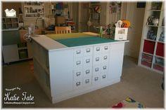 Amazing craft room - center work station