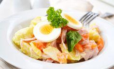 Einen würzigen und leckeren #Mayonnaisesalat bereiten Sie mit diesem Rezept zu. Der Salat eignet sich als Vorspeise, Beilage oder Snack zwischendurch.