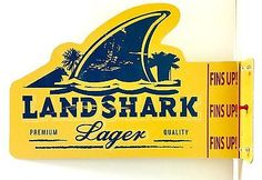 LandShark Lager Fin Shaped Floating Key Chains Free Shipping USA 12