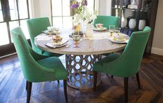 Pretty #diningroom set up with @leeindustries chairs.