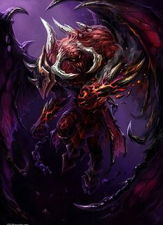 Pathfinder Pantheon — aliapulchraes: Conceptual Art by Leonid Karpacz Fantasy Demon, Demon Art, Fantasy Monster, Dark Fantasy Art, Dark Creatures, Fantasy Creatures, Mythical Creatures, Monster Concept Art, Monster Art
