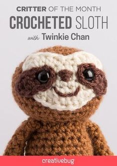 Crochet your own amigurumi sloth with this free pattern!