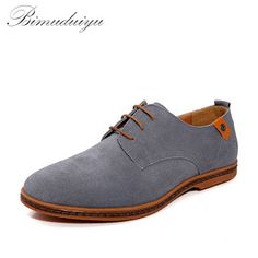 BIMUDUIYU Brand Minimalist Design Genuine Suede Leather Men Casual Shoes Hot Sale Flat British Style Oxford Shoes Big Size 38-48 (32459576121)  SEE MORE  #SuperDeals