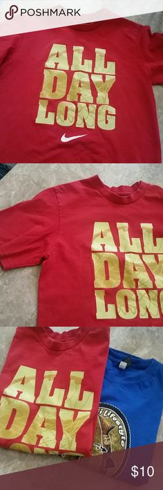 596d6a47 Boys Red Nike Shirt This shirt is good condition. Great for everyday. You  get the blue shirt free! Tags say medium and extra lg but both fit size  Shirts ...