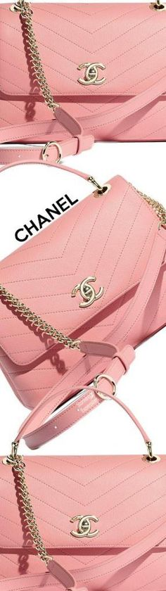 36cb8b6a9cb9 #Chanel 2019 Flap Bag with Top Handle SM Chanel Art, Chanel Logo, Pink