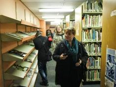 LIASA EXCO and branch members visiting specialist libraries, including the SABC Media Libraries Libraries, Library Room, Bookcases, Bookstores