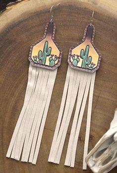 Fringe Earrings, Diy Earrings, Leather Earrings, Leather Jewelry, Leather Craft, Handmade Leather, Horse Hair Jewelry, Cowgirl Jewelry, Western Jewelry