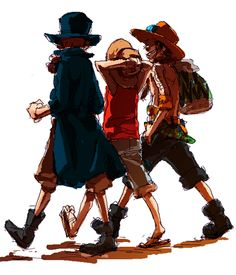 Sabo,Portgas D. Ace,Monkey D. Luffy - One Piece