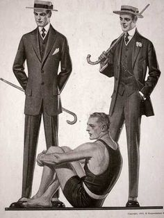 1913 - suits and a swim suit