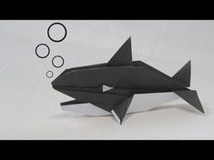 Origami Tutorial: How to make a Origami Killer Whale Model Design: Robert J. Lang & John Montroll This model is in the book: Robert J. Origami Paper Art, Origami Fish, Origami Animals, Paper Crafts, Oragami, Martial Arts Styles, Geek Crafts, Kids Crafts, Animals
