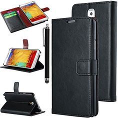 Note 3 Case, Galaxy Note 3 Flip Case - ULAK Galaxy Note 3 Case Deluxe PU Leather Folio Wallet Case Cover for Samsung Galaxy Note 3 Note III N9000 (AT&T, T-Mobile, Sprint, Verizon) with Stylus and Clear Screen Protector (Black) ULAK http://www.amazon.com/dp/B00GUBK96S/ref=cm_sw_r_pi_dp_HEGkub0ZFKD5H