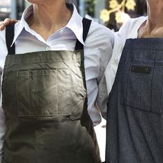 Sneak peak at our apron in two color ways, coming soon.