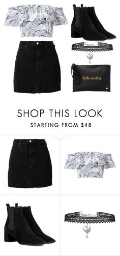 """""""Untitled #1238"""" by noellescholte ❤ liked on Polyvore featuring IRO, Isolda, Yves Saint Laurent, Betsey Johnson and Deux Lux"""