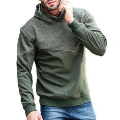 JOZSI Leisure Hooded Cashmere Sports Hoodies Sweatshirts at Banggood Sports Hoodies, Cheap Hoodies, Fashion Seasons, Sport Casual, Grey Hoodie, High Collar, Chic Outfits, Latest Fashion Trends, Hoods