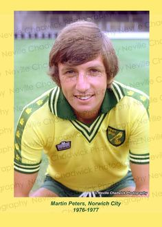 Norwich City Football, Norwich City Fc, Retro Football, Football Shirts, Martin Peters, Norwich England, Football Hall Of Fame, Golden Days, My Childhood Memories