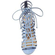 Steve Madden Women's Carrmen Stilettos Sandals ($60) ❤ liked on Polyvore featuring shoes, sandals, heels, stiletto sandals, heeled sandals, leather high heel sandals, heels stilettos and high heeled footwear