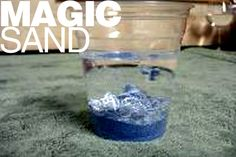 Magic Sand is sand that doesn't get wet! Regular sand absorbs water. Magic sand repels it!