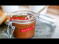 Recept på hemmagjord Nutella Nutella, Fika, Coffee Cans, Soul Food, Food Inspiration, New Recipes, Sweet Tooth, Brunch, Sweets