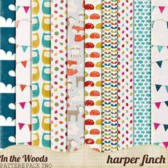 Free paper pack--In the Woods Patterns Pack Two by Harper Finch by ~harperfinch on deviantART