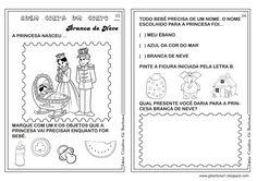 Caderno de Atividades Branca de Neve Projeto Contos de Fada   Ideia Criativa - Gi Barbosa Educação Infantil