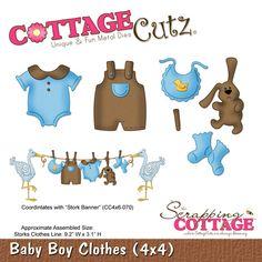 Cottage Cutz - Die - Baby Boy Clothes