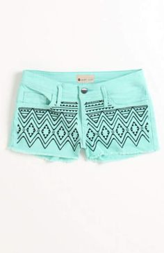 Draw on shorts with fabric pen.