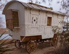 pee wee movie prop gypsy wagon conversion renovation 001   Would would you do with this Renovated Gypsy Vardo Wagon?